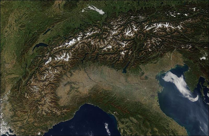 Cartina Satellitare Lombardia.Cml Articoli Particolato Atmosferico E Immagini Satellitari Modis Prospettive Di Analisi In Val Padana