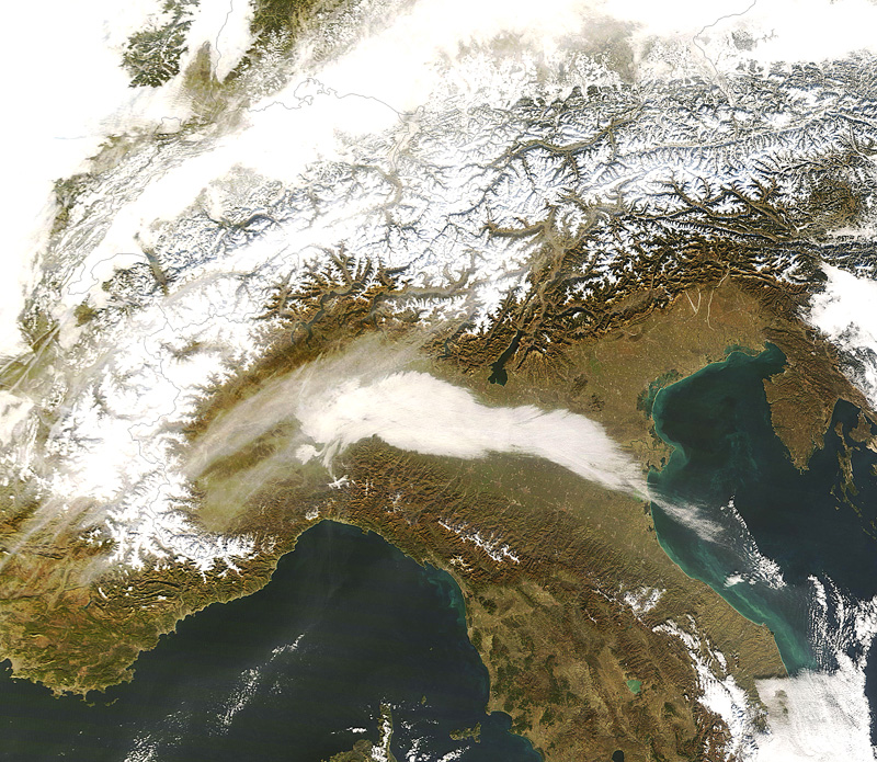 Cartina Satellitare Lombardia.Cml Mappe Le Nebbie In Lombardia Nel Trimestre Invernale 2007 2008