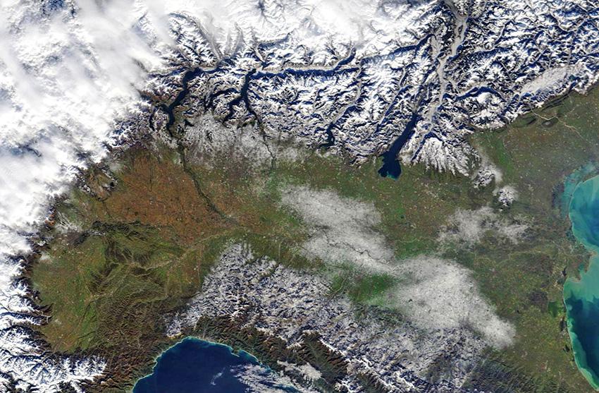 Cartina Satellitare Lombardia.Cml Archivio 16 Dicembre Prime Bianche Sorprese Anche A Quote Pianeggianti