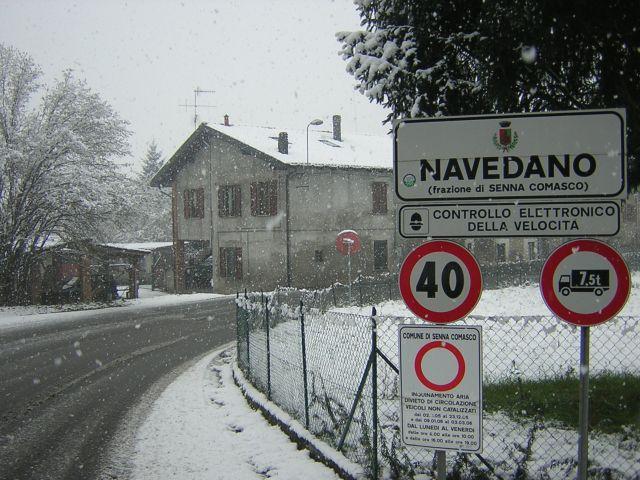 la nevicata del 26 11 05 nel comasco