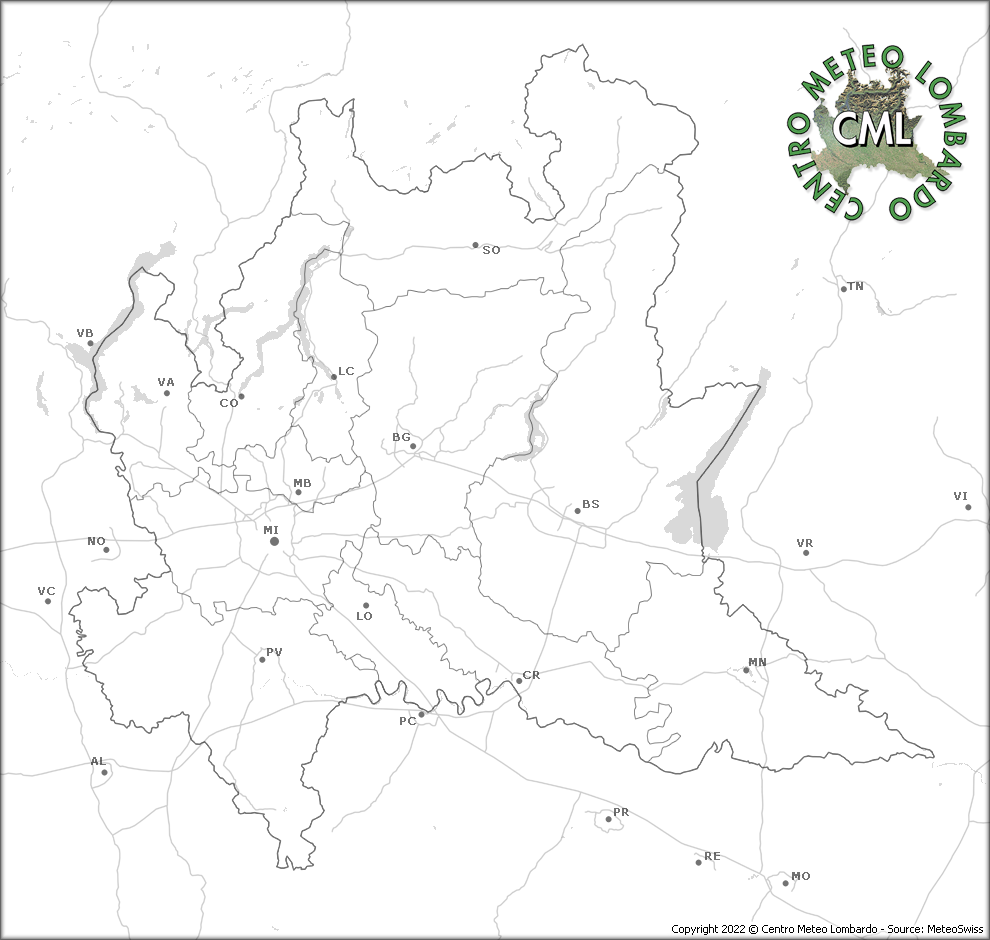Immagine dal radar meteorologico Centro Meteo Lombrado